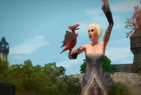 драконы в симс 3