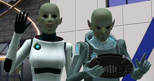 как стать инопланетянином в симс 3