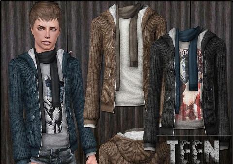 набор мужской одежды для симс 3
