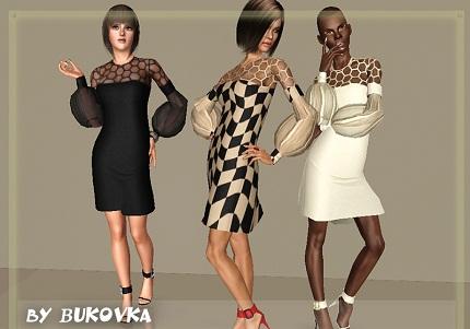 женское платье и туфли для игры симс 3