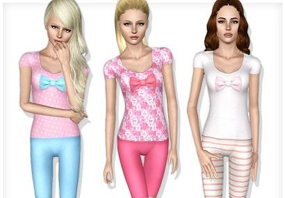пижама для девочек в симс 3