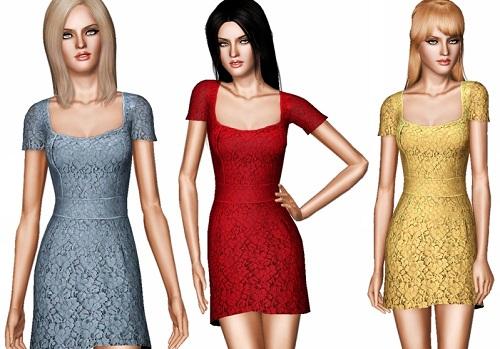 платье для симс 3