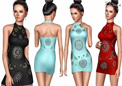 обтягивающее платье для симс 3