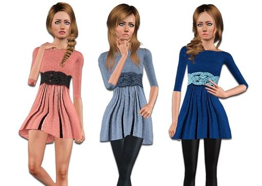 легкое платье для симс 3