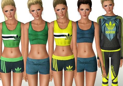 набор женской спортивной одежды для симс 3